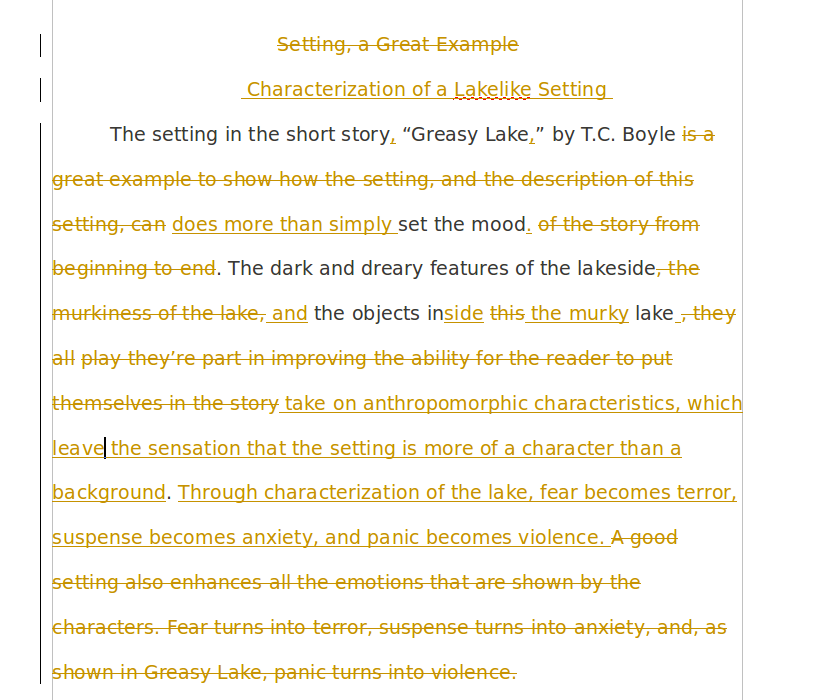 character analysis on greasy lake Character analysis nick adams bookmark this page manage my reading list nick adams is the name that hemingway gave to the fictional persona, largely autobiographical, whom he often wrote about like hemingway himself, nick is the.