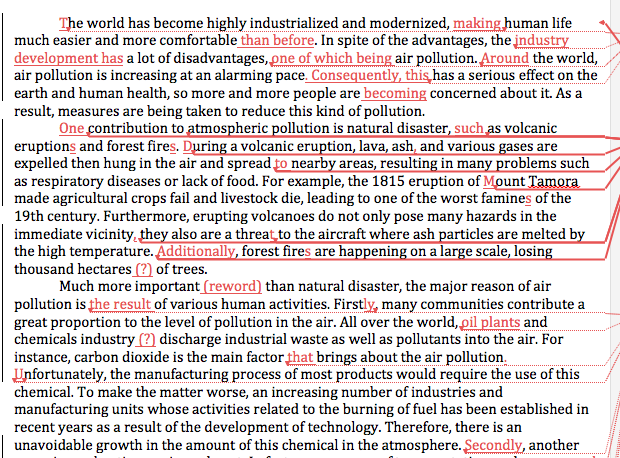 air pollution kids essay