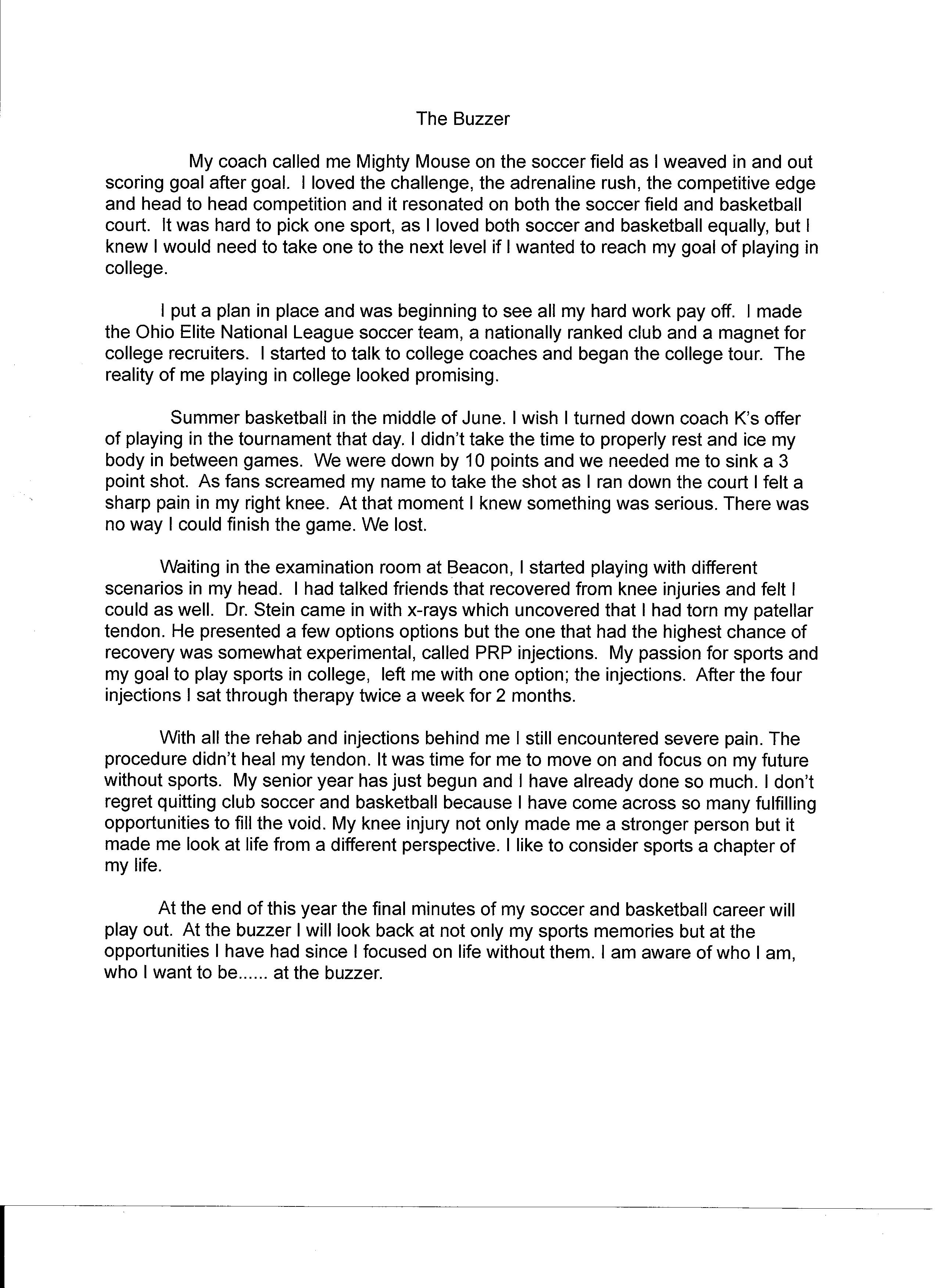 college essay forum