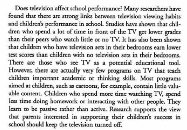 should children watch television essay