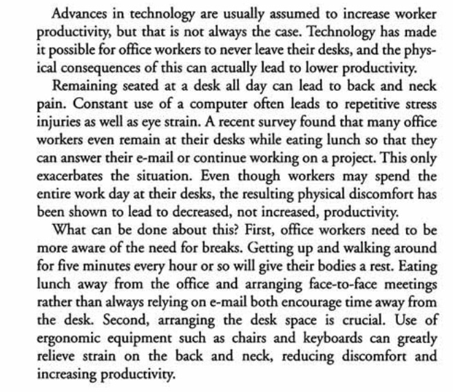 the impact of advances in technology on office workers  the impact of advances in technology on office workers productivity toefl integrated essay
